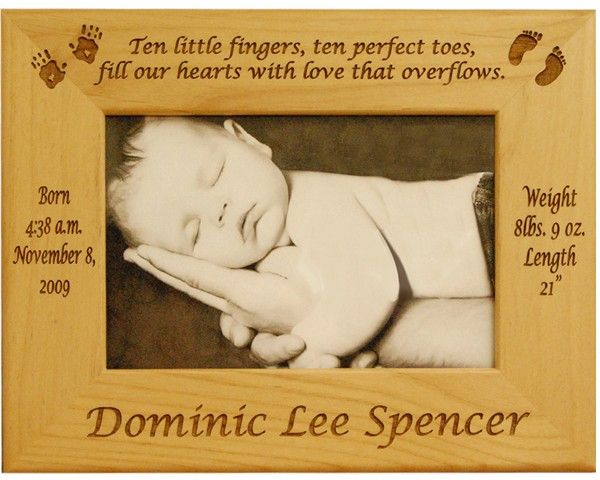 Baby picture frame, baby photo frame, customized baby gifts