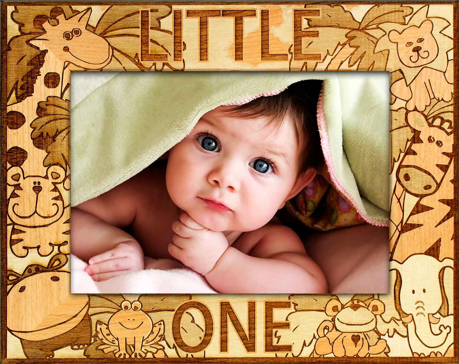 Baby picture frames - Little One Baby Frame - baby picture frames, customized baby gifts, picture gift ideas, christening gifts