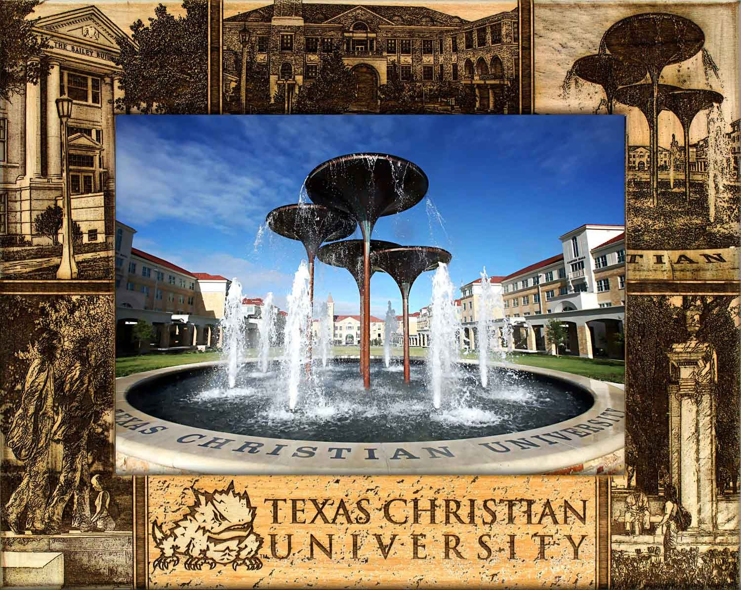 College Picture Frames - Texas Christian University College Frame, customized gift, picture gift ideas