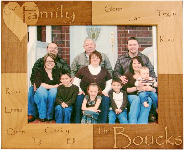 Family picture frames - Our Family Picture Frame - Personalized frames, picture gift ideas, wooden photo frames, Name frame, customize frames