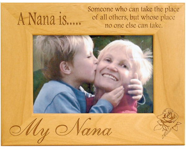 Family picture frames - A Nana Is - Grandmother Frame - picture gift ideas, wooden photo frames