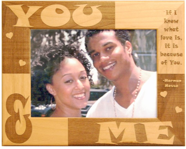 Wedding picture frames - Love Frame for Couples - wooden photo frames, picture gift ideas