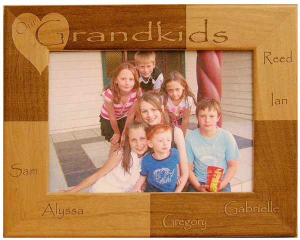 Family picture frames - Our Grandkids Personalized Family Frame - free personalization, customize frames, Custom personalized frames