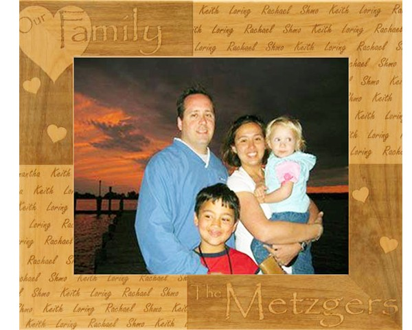 Family picture frames - Our Family Repeated - Name frame, customized gift