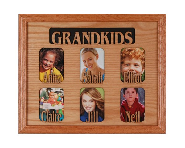 Name picture frames - 6 Openings W/Names - family picture frames, free personalization, personalized gifts
