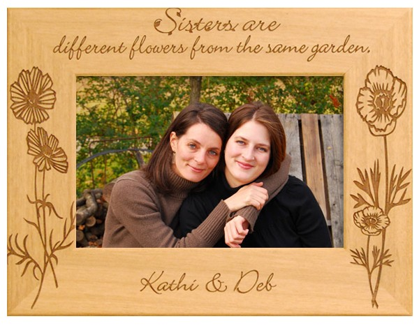 Family picture frames - Sisters are.. - Name frame, personalized frame, picture gift ideas