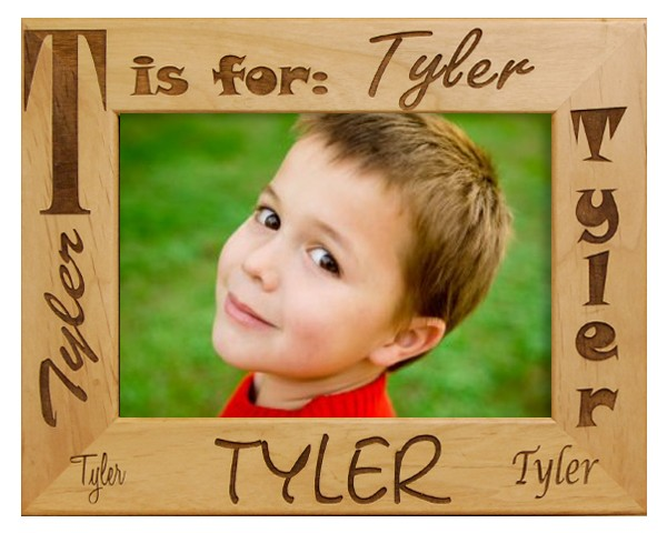 Name P - wooden photo frames, free personalization, custom picture frame