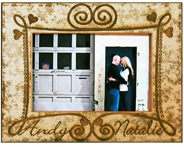 Wedding Picture Frames - Rustic Love - Name frame, picture gift ideas