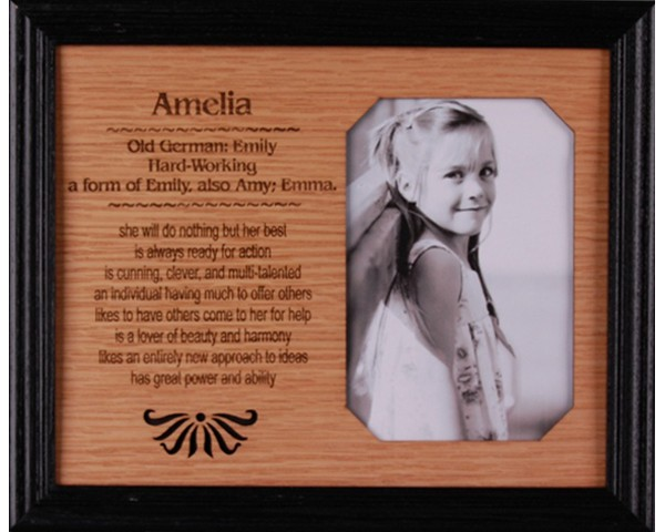 name picture frames one name octagon personality profiles custom wooden frames - Name Picture Frames
