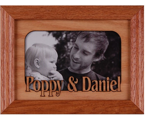 Name picture frames - 5x7 Two Name Frame, free personalization, customize frames, Custom picture frames, custom wood picture frames