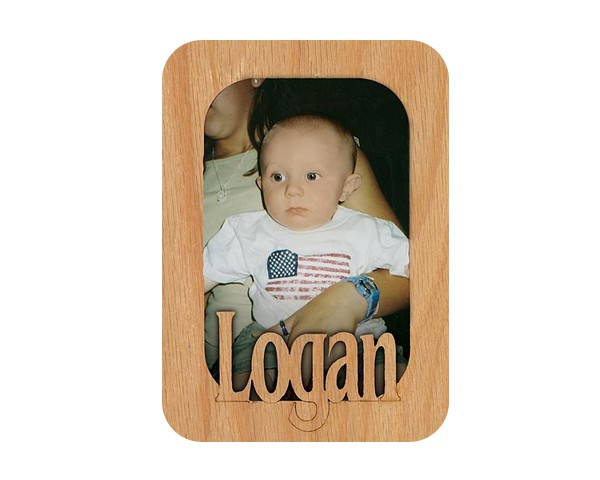 Name Picture Frame Magnet - Name frame, personalized frame, custom wood picture frames