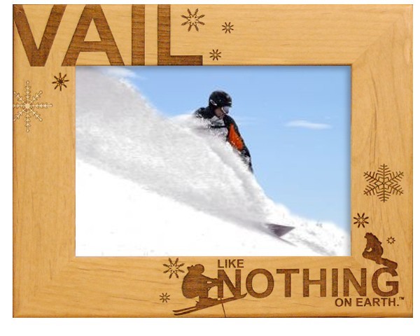 Personalized engraved gifts - Vail Colorado - wooden photo frames