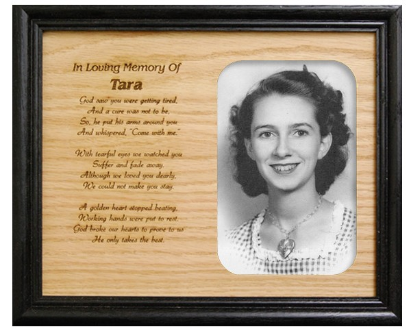 Memorial picture frames - In Loving Memory 2 - Name frame with meaning, personalized frame