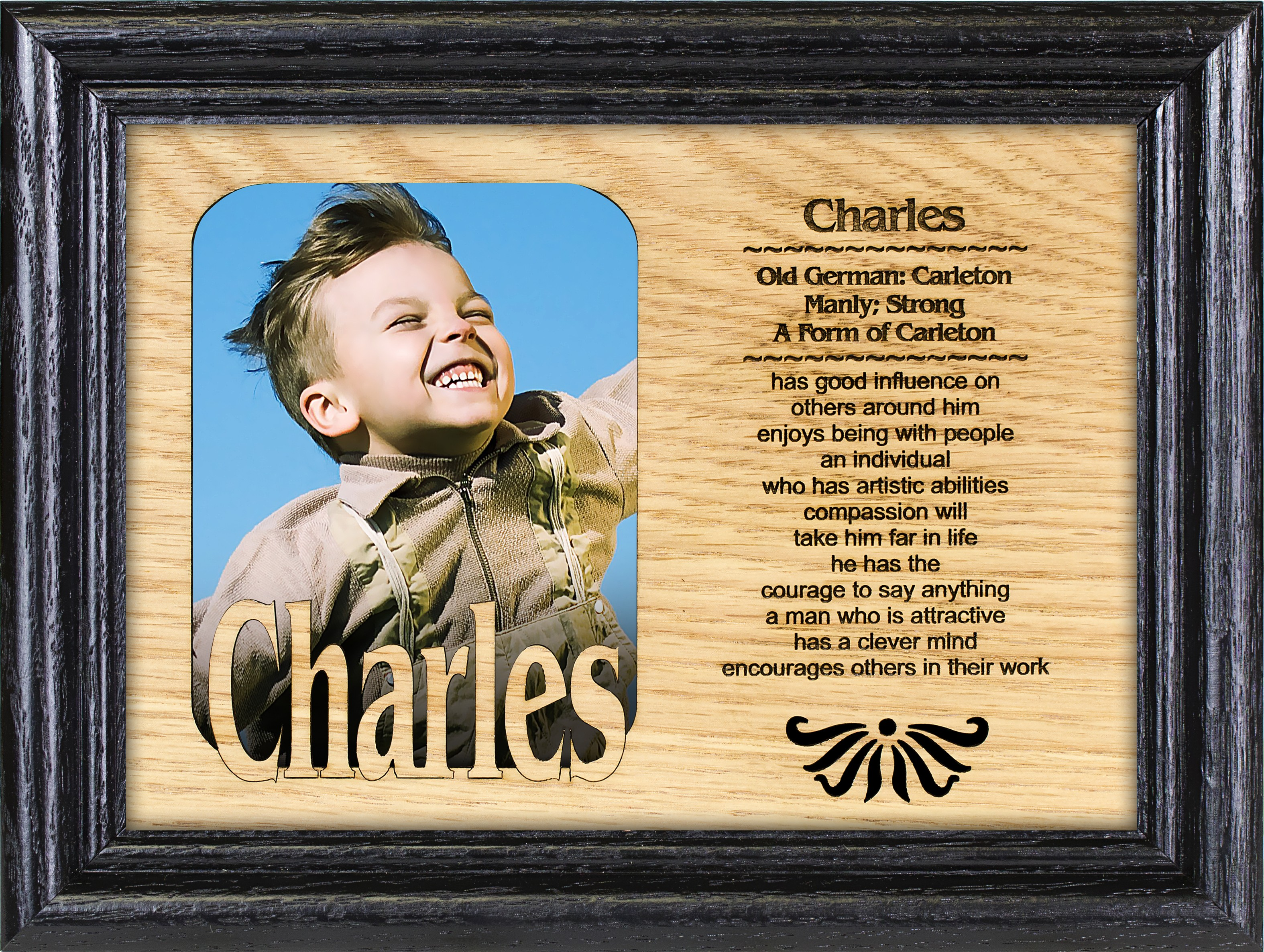 Name Picture Frame - One Name W/ One Picture - Personality Profiles, personalized frame, wooden picture frames with quotes