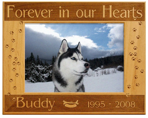 Memorial picture frames - Forever in our hearts - free personalization, custom picture frame