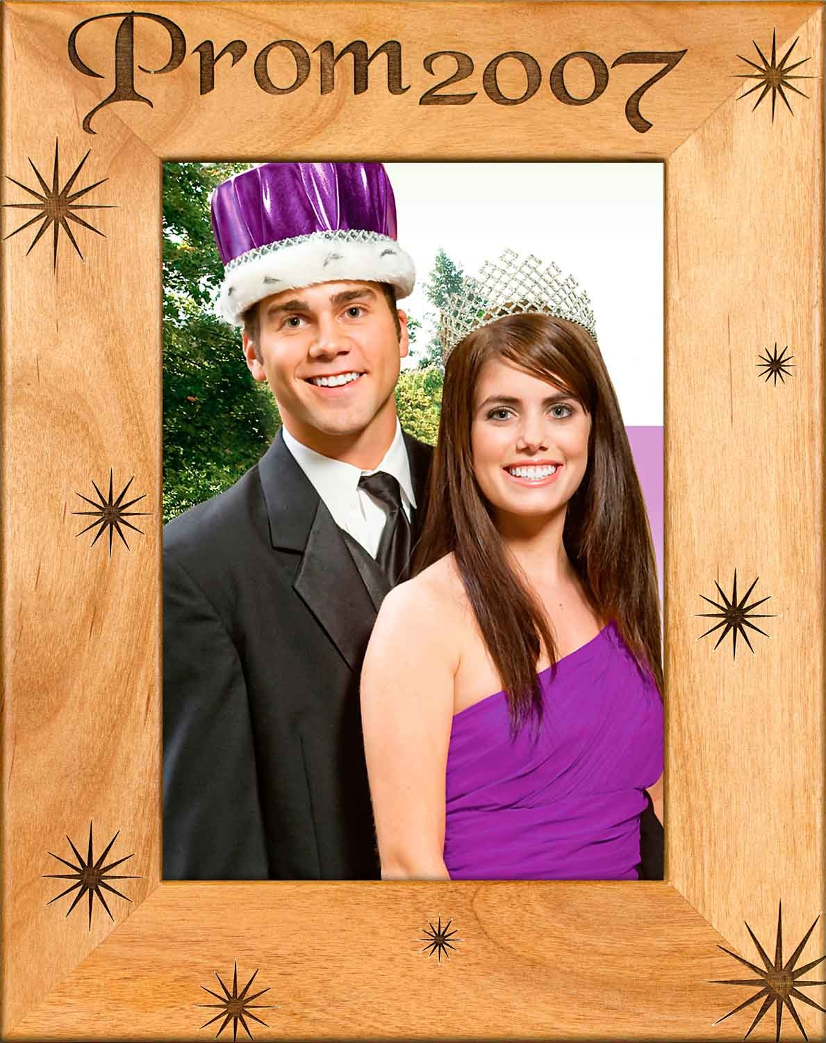 School Picture Frames - High School Prom - wooden photo frames
