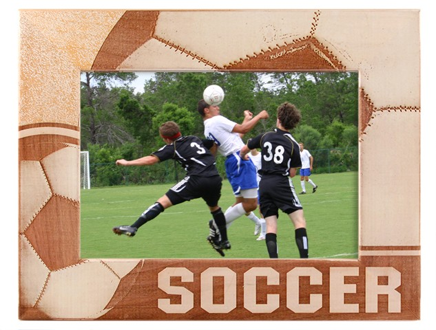 Sports Picture Frames - Soccer Ball Frame - wooden photo frames, picture gift ideas
