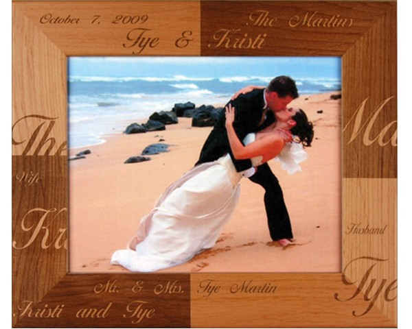 Wedding picture frames - Mr. & Mrs. - picture gift ideas, wooden photo frames