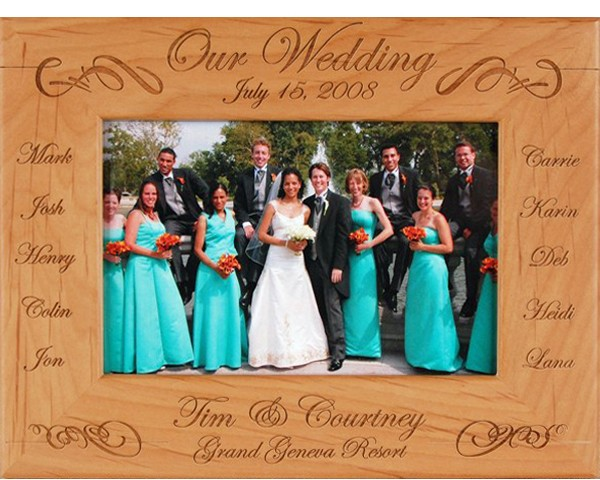 Wedding picture frames - Our Wedding Party - name picture frames, personalized frame