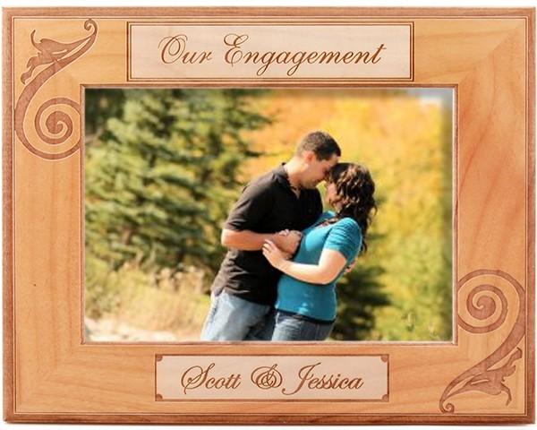 Wedding picture frames - Regal Engagement Frame - name picture frames, picture gift ideas